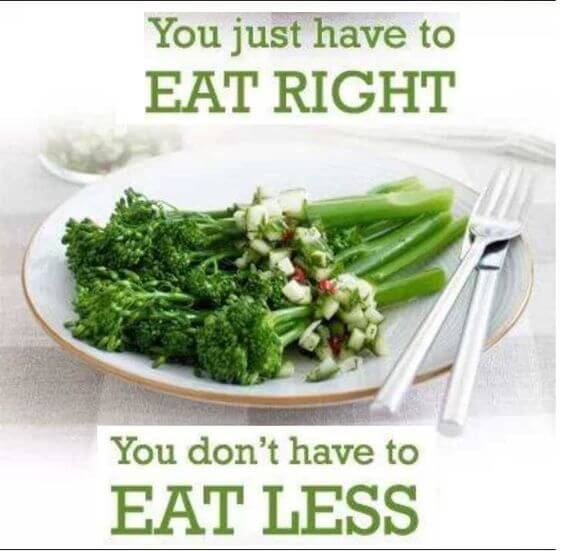 Eat right not less