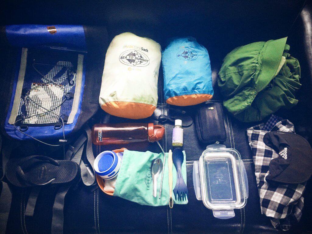 zero waste packing list travel