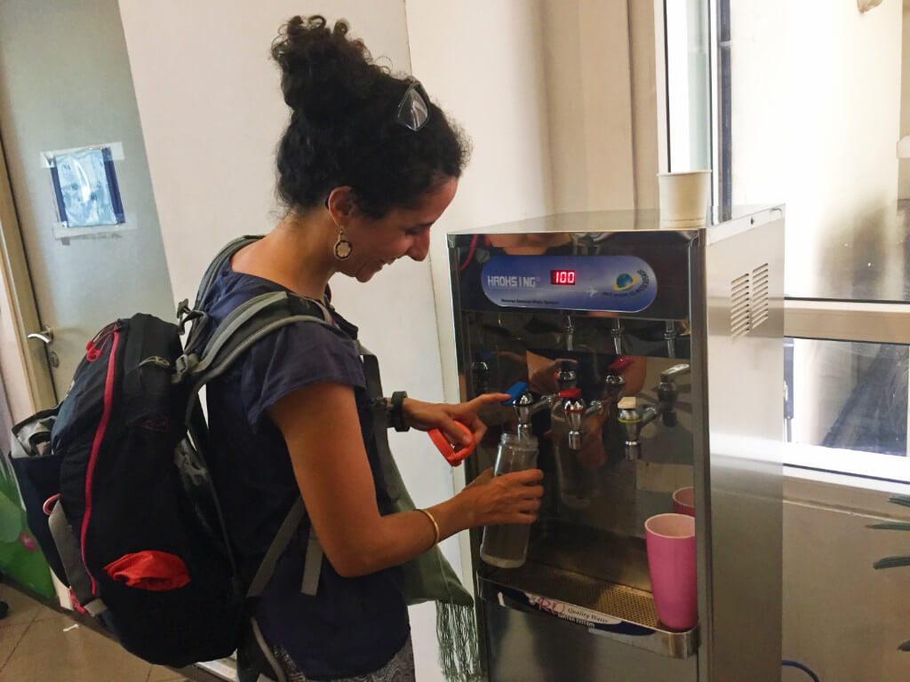 zero waste travel water refill no footprint
