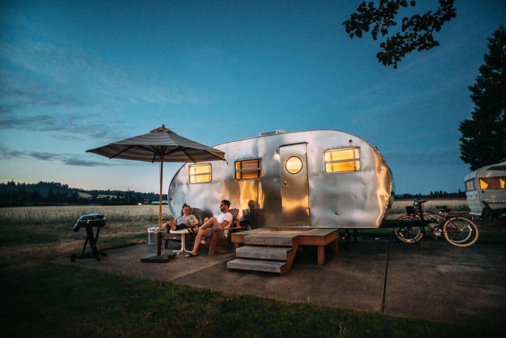 rv caravan van life solar panels
