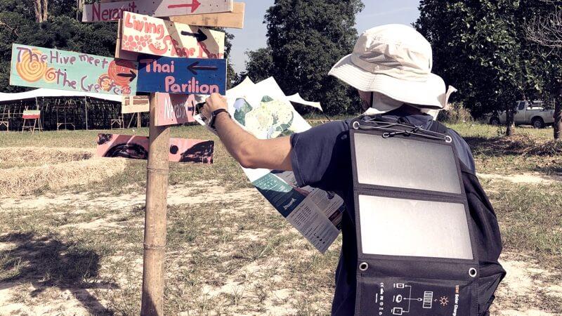nomadism zero waste traveler solar charger