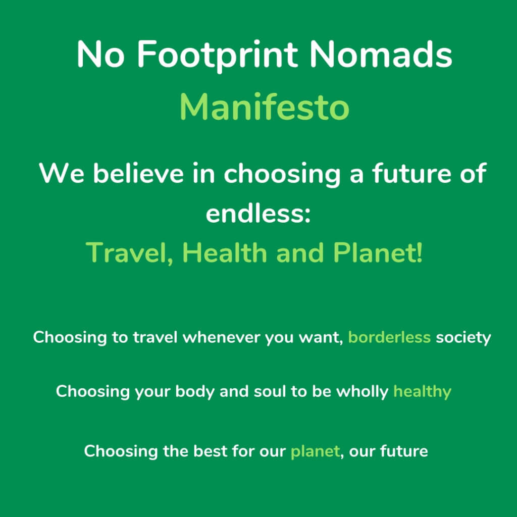 manifesto no footprint nomads